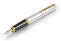 Fountain pen with white gold Royalty Free Stock Photography