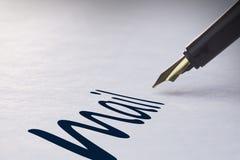 Fountain pen writing Mail Stock Photos