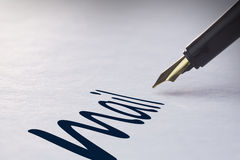 Fountain pen writing Mail Royalty Free Stock Image