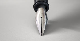 Fountain Pen In Writing Position Royalty Free Stock Photo