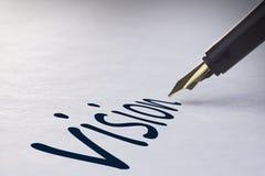 Fountain pen writing Vision Royalty Free Stock Photo