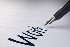 Fountain pen writing Work Stock Images