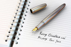 Fountain pen written Happy New Year Stock Photography