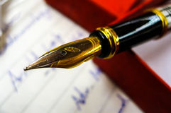 Fountain pens with gold nib Royalty Free Stock Images