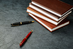 Fountain pens with ink Stock Photography
