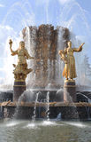 The Fountain of People's Friendship. VVC, Moscow Royalty Free Stock Photography