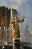 The Fountain of People's Friendship. VVC, Moscow Royalty Free Stock Images