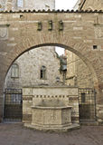 Fountain at Perugia Royalty Free Stock Photography