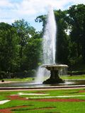 Fountain in Petergoph, Russia. Fountain in park belongs to king's palace in Petergoph, surroundings of St. Petersburg, Russia Royalty Free Stock Photography