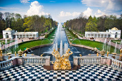 Fountain in Peterhof Royalty Free Stock Images