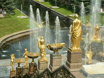 Fountain in Petrodvorets. (Peterhof), St Petersburg, Russia stock photography