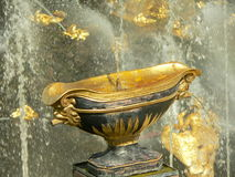 Fountain in Petrodvorets. (Peterhof), St Petersburg, Russia stock photos