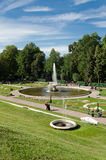 Fountain in Petrodvorets. View of the Roman fountain in Petrodvorets Royalty Free Stock Photos