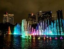 Fountain Petronas twin towers stock photos