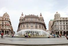 Fountain on Piazza de Ferrari - city main square Royalty Free Stock Image