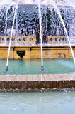 The fountain in Piazza de Ferrari Royalty Free Stock Photography