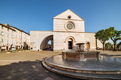 Fountain in Piazza del Comune. Assisi Royalty Free Stock Photo