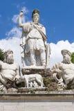 Fountain Piazza del Popolo, Roma, Italia Imagen de archivo libre de regalías