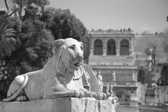Fountain at Piazza del Popolo, Rome, Italy Royalty Free Stock Photos