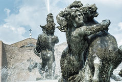 Fountain At Piazza Della Repubblica, Royalty Free Stock Photos