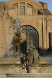 Fountain in Piazza della Repubblica in Rome Royalty Free Stock Photography