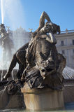 Fountain in Piazza della Republica, Rome Royalty Free Stock Photography