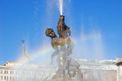 Fountain in Piazza della Republica, Rome Stock Photography