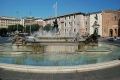 Fountain in Piazza della Republica, Rome Royalty Free Stock Photos
