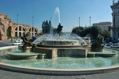 Fountain in Piazza della Republica, Rome Stock Image