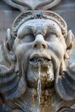 Fountain in the Piazza della Rotonda Rome, Italy. Sculptural detail of the baroque fountain in the Piazza della Rotonda Rome, Italy stock images