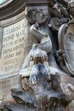 Fountain in the Piazza della Rotonda  Rome, Italy Royalty Free Stock Photos