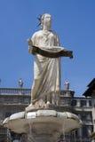 Fountain of piazza delle erbe Stock Photography