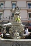 Fountain on piazza Duomo, Amalfi Stock Images