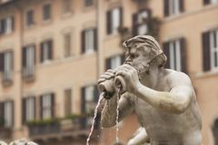 Fountain in Piazza Navona Stock Photos