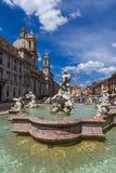 Fountain in Piazza Navona - Rome Italy Stock Photos