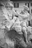 Fountain in Piazza Navona, Rome, Italy. Royalty Free Stock Photos