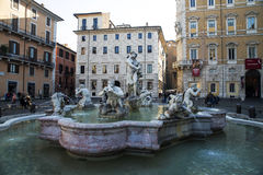 Fountain in Piazza Navona Rome Royalty Free Stock Image