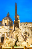 The fountain on Piazza Navona in Rome. royalty free stock photography