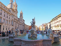Fountain in Piazza Navona, Rome, Italy Stock Photo
