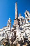 Fountain in the Piazza Navona in Rome, Italy Stock Photos