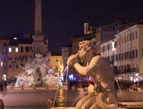 Fountain at Piazza Navona Rome Stock Photos