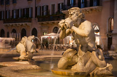 Fountain piazza navone Stock Photography
