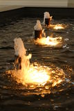 Fountain. A picture of a bubbling fountain royalty free stock photos
