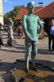 Fountain Pissing Men in Prague,Czech Republic. Royalty Free Stock Photo