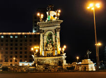 Fountain on Placa d'Espanya Stock Photography