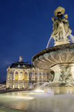 Fountain in the Place of the Bourse. Bordeaux (France Stock Photography
