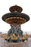 Fountain on Place Concorde in Paris Stock Photo