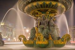 Fountain at Place de la Concord in Paris Stock Images