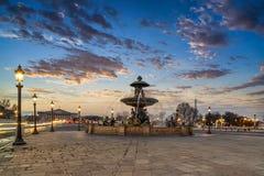 Fountain at Place de la Concord in Paris Stock Photo