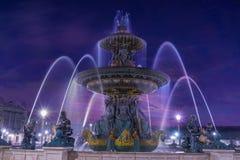 Fountain at Place de la Concord in Paris Royalty Free Stock Photos